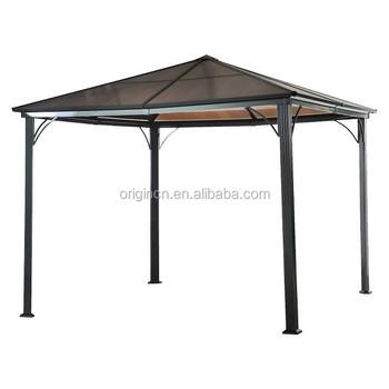 Steel Frame Hard Top Slanted Roof For Outdoor Gatherings Patio Pavilion -  Buy Pavilion,Outdoor Pavilion,Pavilion Furniture Product on Alibaba com