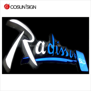 Popular customized frontlit indoor/outdoor acrylic LED channel letters