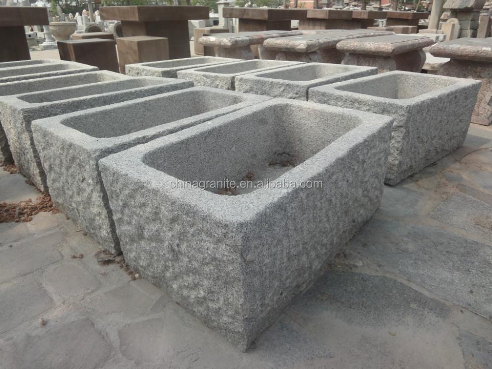Vendita calda vasca in pietra di granito antico giardino di pietra ...