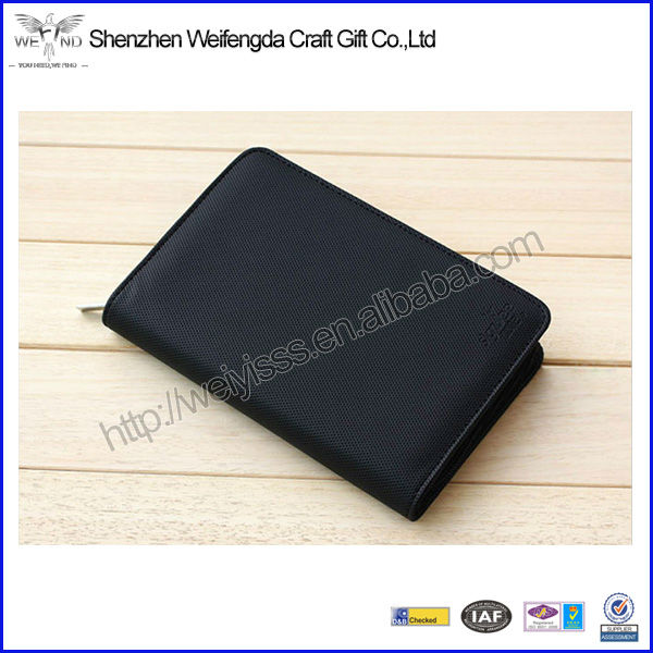 Multifunction Unique New-style Custom Cheap Leather leather Cover Zipper Notebook /Planner