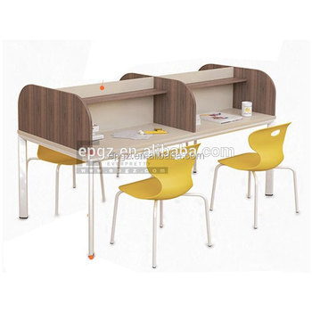 Modern Library Furniture Children Study Chairs Tables Wooden