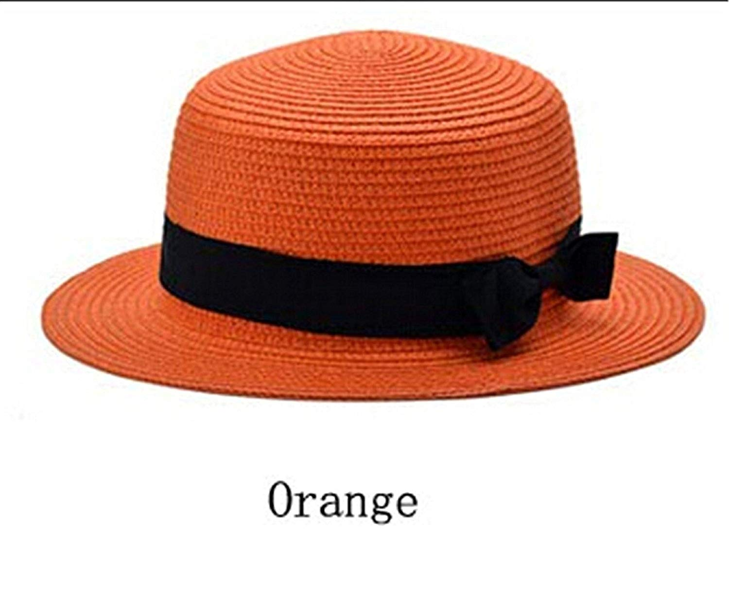 Get Quotations · Barry picks Nice Sun Straw Hat boater hat Women s bow summer  Hats For Women Beach flat a7e6118740ff