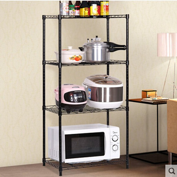 PN Shelving Home Kitchen Garage 4 Shelf Storage Rack Unit Shelves Metal Closet Metal Shelf