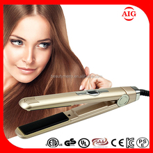Sensor touch control Electric hair flat iron,high temperature tormaline ceramic hair flat iron silicone hair straightener