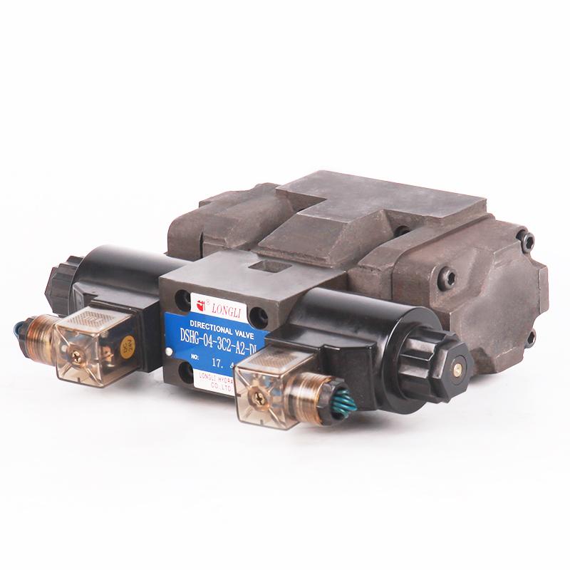 DSHG 04 Yuken type elektrische gecontroleerde solenoid hydraulische operated directionele regelklep 12 v met lage prijs