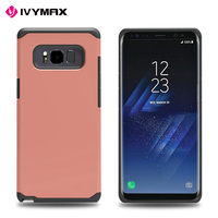 Guangzhou factory ultra thin hybrid 2 in 1 PC TPU protective rubber case cover for Samsung NOTE 8