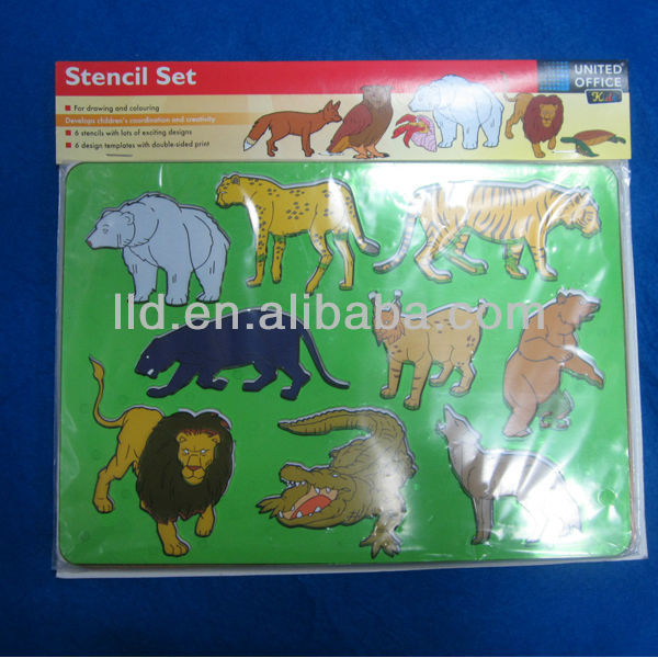 604151 Promotioinal Drawing Stencil Set For Kids
