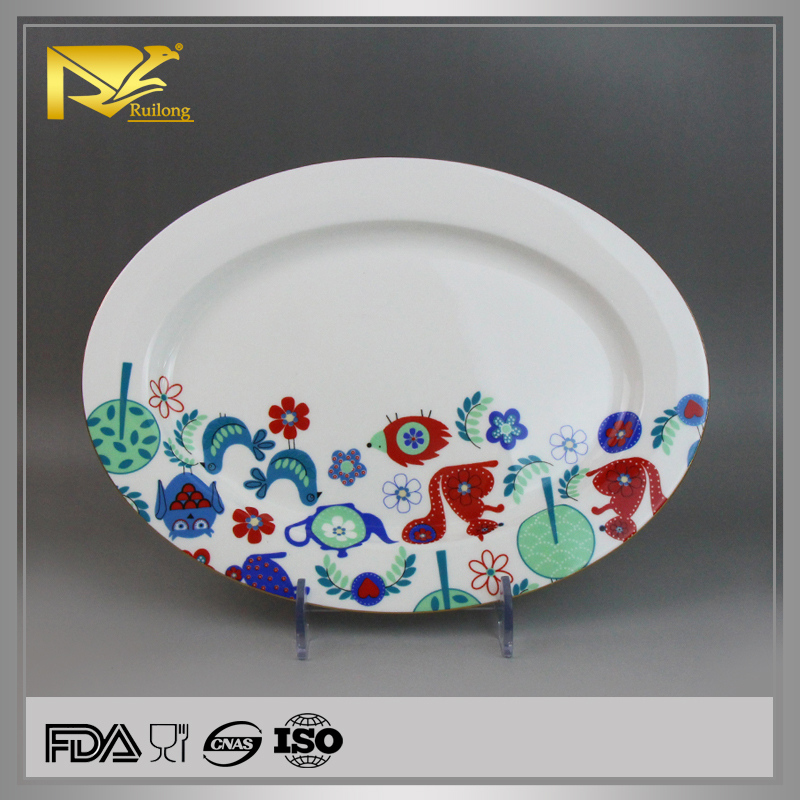 View larger image. china supplier decal ceramic oval dinner plates bulk white ... & China Supplier Decal Ceramic Oval Dinner PlatesBulk White Dinner ...