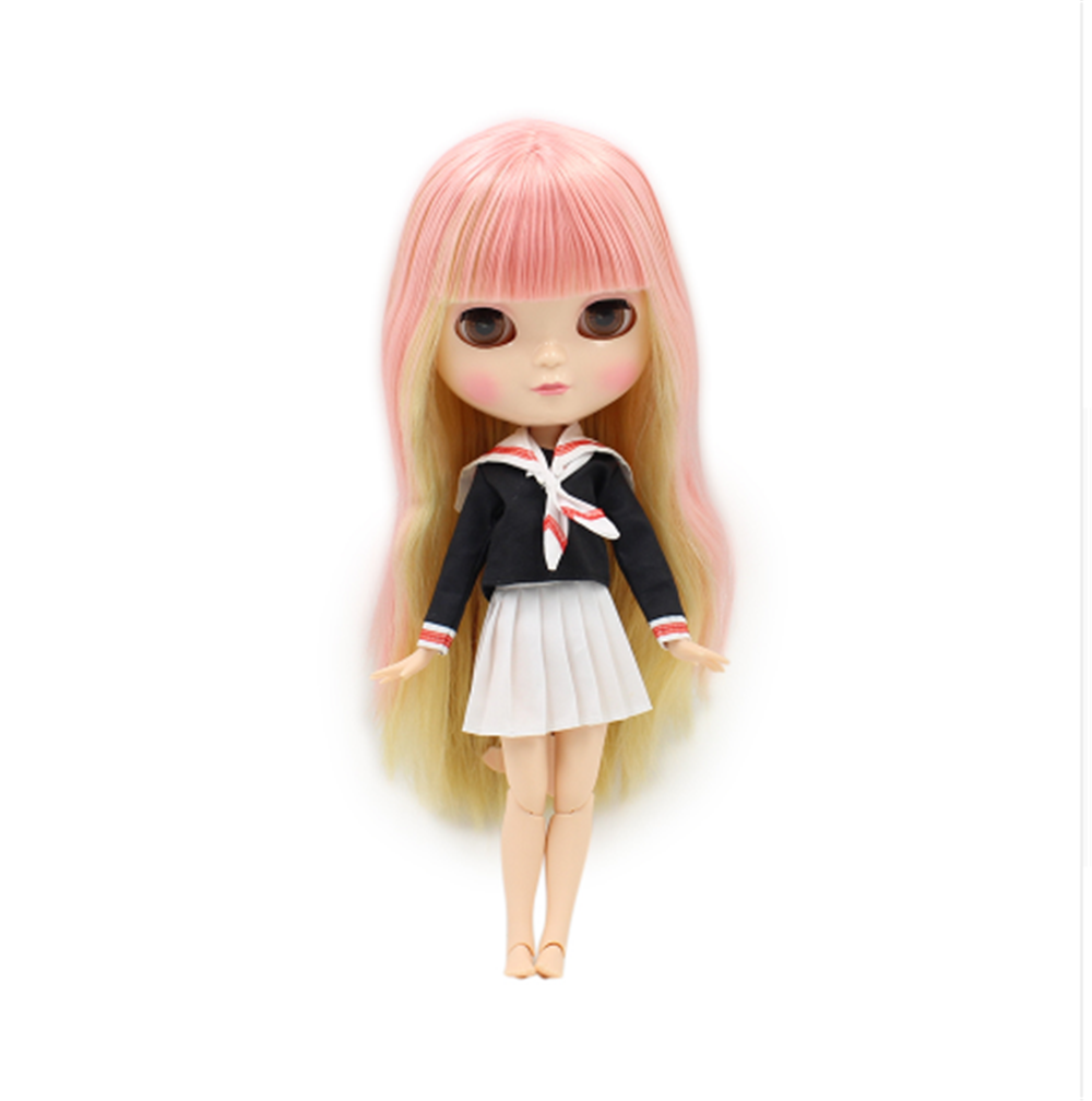 Fortune Days Icy Nude Doll With Wine Red Hair And Natural