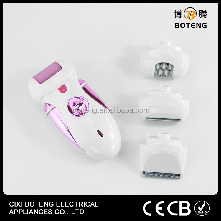 4 Heads Portable Electronic Callus Remover Lady Epilator