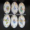 fruit plate for peru market , ceramic fruit plate for kids, decorative plates fruit