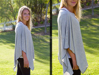 Rehabilitation Therapy Supplies Properties light grey heather baby nursing cover