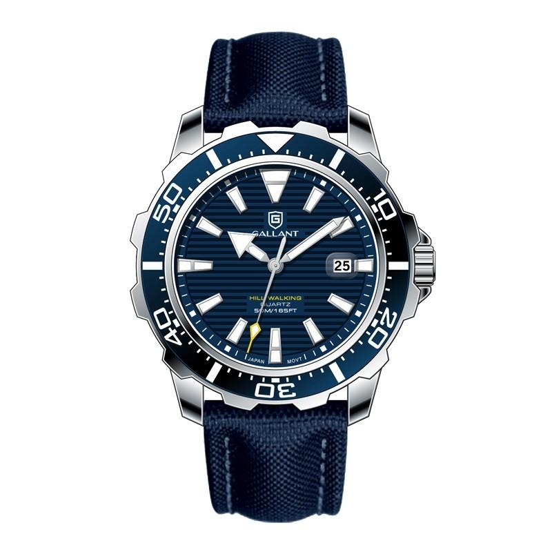 GALLANT 브랜드 일본 석영 movt 스테인레스 스틸 백 울트라 주석 시계 쿼츠 시계