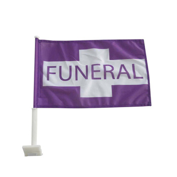 wholesale custom funeral procession hanging car window flag