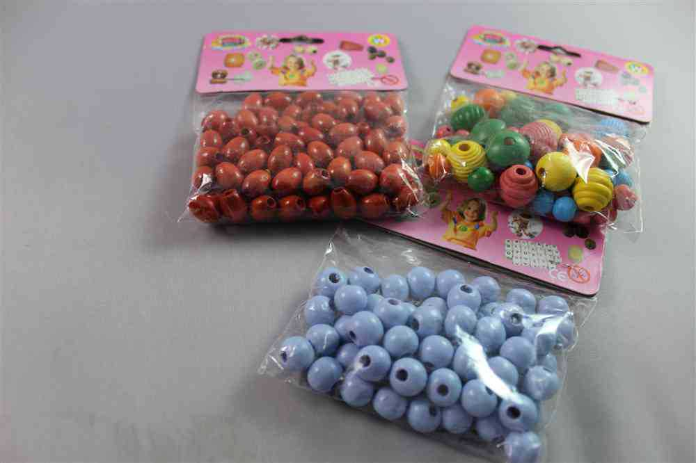 fashion wood loose beads plastic crafts christmas ball