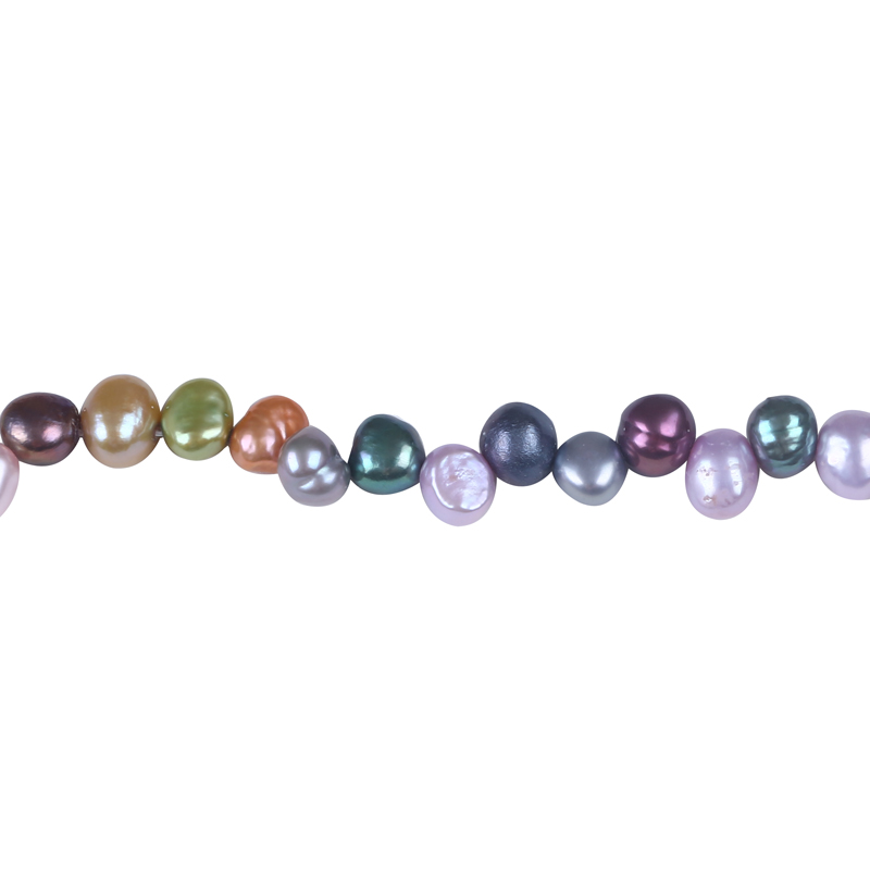 7-8mm AA Irregular Freshwater Cultured Pearl Loose Strand