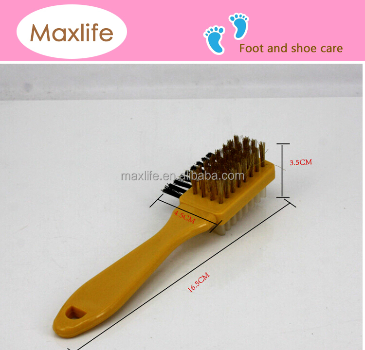 Plastic Handle Br Suede Shoe Brush