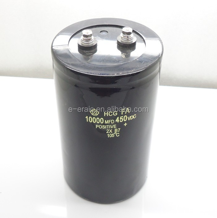 Super capacitor Horns capacitor 450V 10000uF 90x155mm