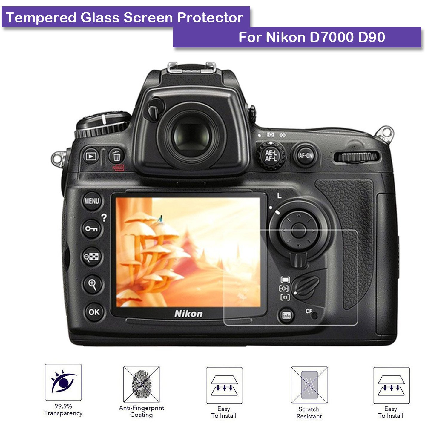 2 Pack Vello Snap-On LCD Screen Protector for Nikon D7100