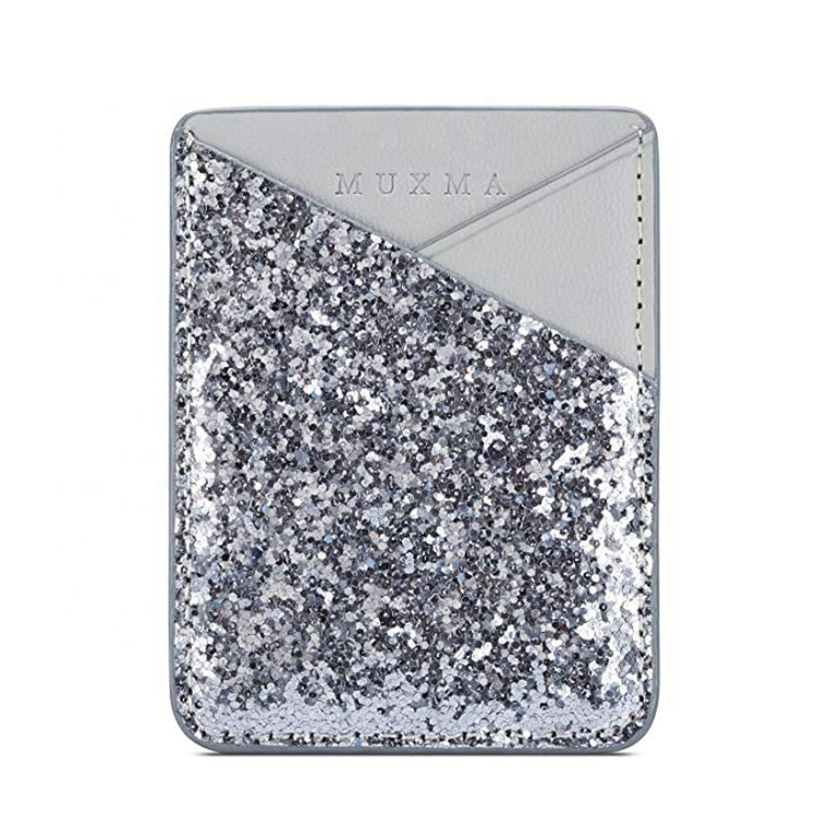 Bling glitter self adhesive <strong>cell</strong> <strong>phone</strong> wallet pouch <strong>pocket</strong>