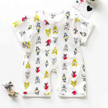 c26fbfd53 2018 Fashion Organic Baby Body Suit Children's Short Sleeve Toddlers Rompers