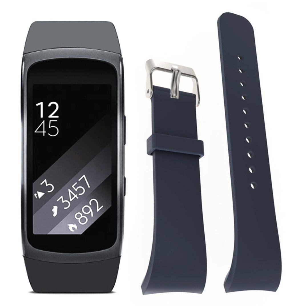 For Samsung Gear Fit 2 SM-R360 Wristband,Binmer(TM) Silicone Watch Replacement Strap Band (Gray)