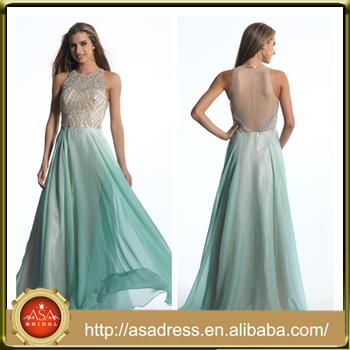 55fffcdcfe88b AD-03 bellamente adornado corpiño Noche vestidos formales 2015 nuevo diseño  Aqua suave gasa largo