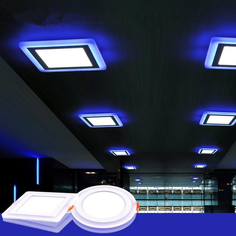 Ac85 265v Slim Led Panels Warm White White Blue Home Decoration