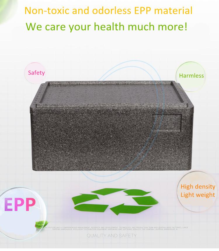 Customized 34L EPP insulation box fresh food delivery box cold chain box