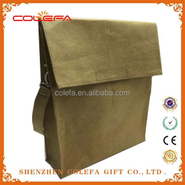 Waterproof Craft Paper Documents bag for man/women