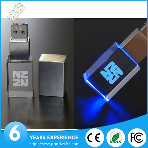 Promotional gift glass usb flash drive USB 16gb Crystal USB 2.0 4GB TO 128GB Factory Price