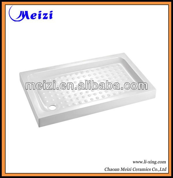 Sanitary ceramic square low shower tray