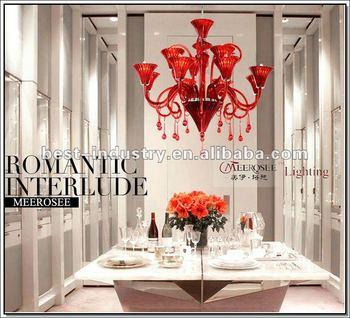 Ce-rode Glazen Kroonluchters,Murano Glas Hanger Kroonluchter Lamp In ...