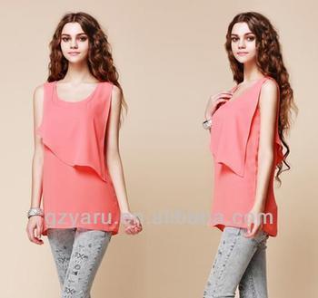 2013 Summer Latest Long Tops Designs Girls