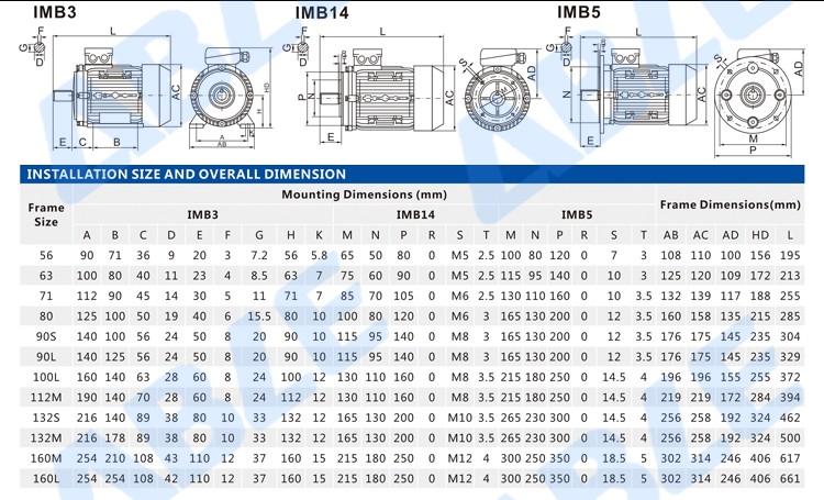 Ac .37kw 5512 Blender 0.5kw Motor Electric 0,75kw 220v 2800rm ...