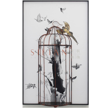 Original Wall Art Craft Home Decoration Cage 3D Wall Decor