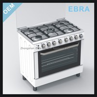 36'' freestanding 5 buners Gas Oven with range and griddle