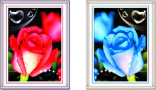 Diamond painting 5d diy cross stitch rhinestone picture two rose flower