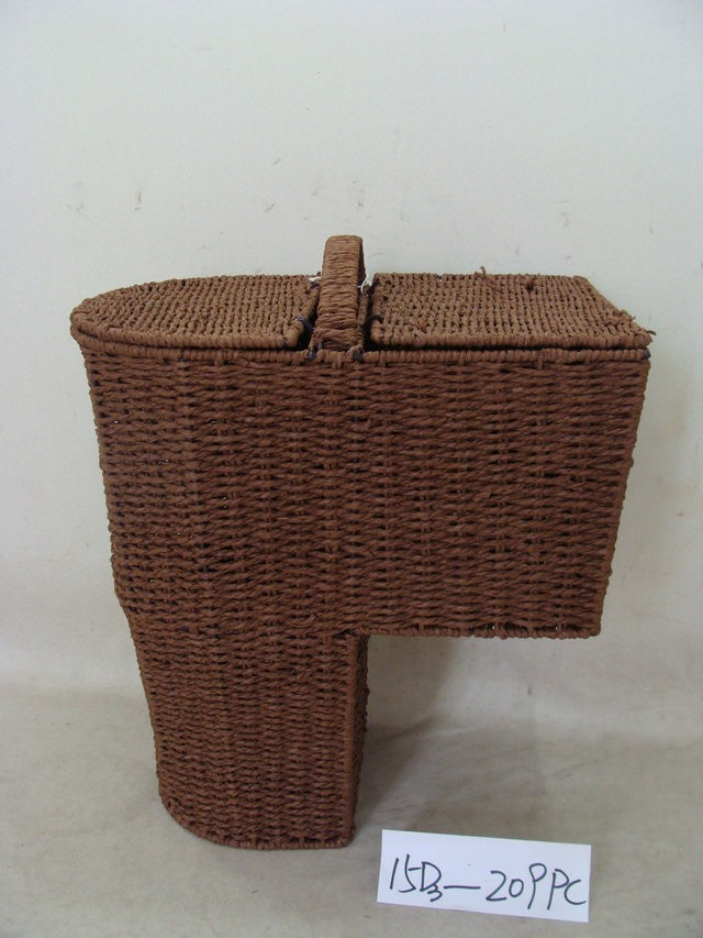 Paper Rope Stair Storage Basket Fou Magazines And Newspaper