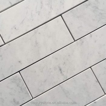 Honed 3x12 White Italy Carrara Marble Price Tile Brick Mosaic