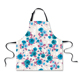 Women Flower Printed Kitchen Aprons Cotton Material with Adjustable Neck