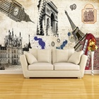 3D European Custom Mural KTV Bar Retro Building Latest Wallpaper For Walls Wallpaper Emboss Wallpaper Tools