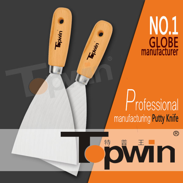 durable stainless steel blade hand putty scraper blades wooden handle wall putty price