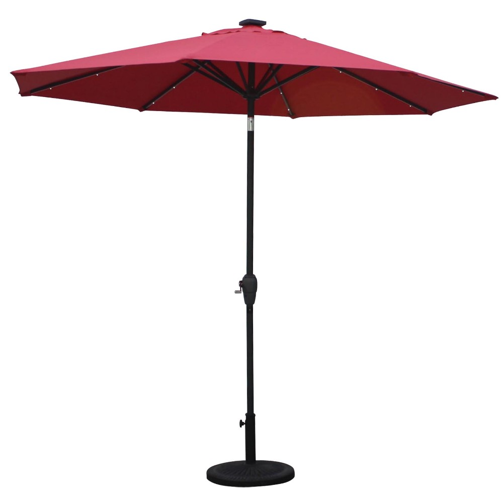 9 39 Aluminum Led Patio Umbrellas Sunergy 50140732 9 39