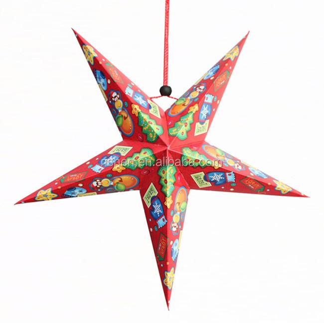 Plastic hanging outdoor christmas decoration star