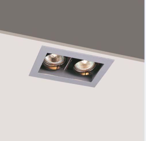 Double Head 100W GU5.3 Interior anti glare LED Spot downlight hotel down light housing