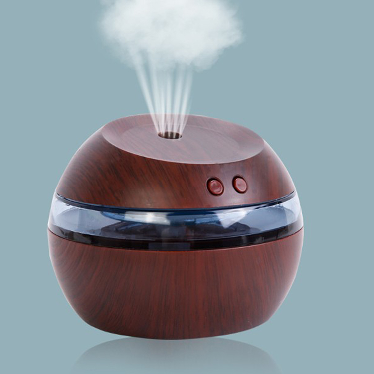 Mini Night Light Health Care Wooden Air Purifier Humidifier For Home And Office