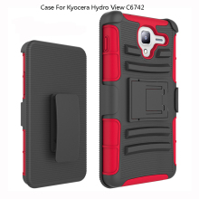 2018 Hot Sale 3 in 1 Belt Clip Holster Kickstand Moblie Cell Phone Cases Covers For Kyocera Hydro View C6742 Reach C6743