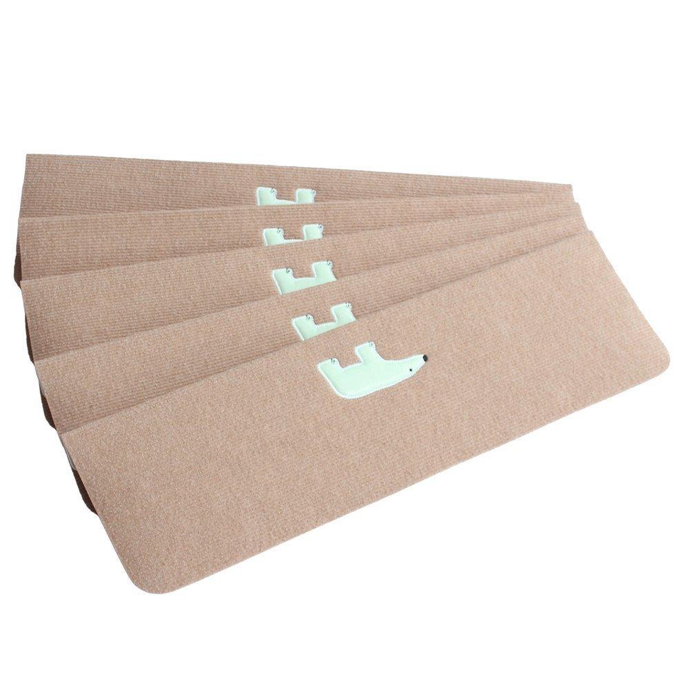 Get Quotations Set Of 5 Skid Resistant Carpet Stair Treads Non Slip Luminous Tread Mats