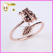 925 sterling silver rose gold animal ring jewellery
